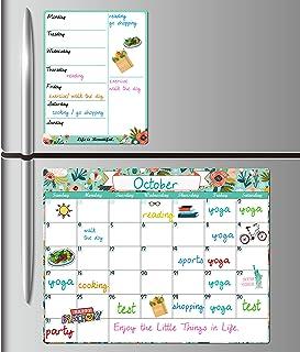 "Dry Erase Fridge Magnetic Calendar - White Board Magnetic Calendar for Refrigerator Wall Home Kitchen Decor, 15""x 11.5"", G..."