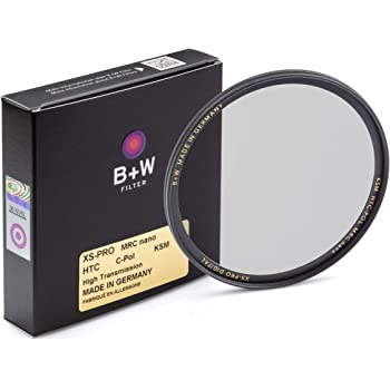 B + W Circular Polarizer Kaesemann - Xtra Slim Mount (XS-PRO), HTC, 16 Layers Multi-Resistant and Nano Coating, Photography Filter, 62 mm