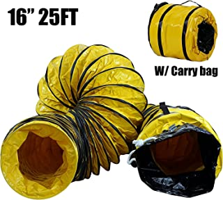 MOUNTO 25FT PVC Flexible Duct Hosing for Exhaust Fan (16inch)