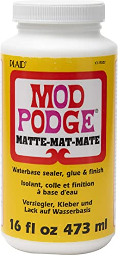 Mod Podge CS11302 Waterbase Sealer, Glue and Finish, 16 oz, Matte, 16 Ounce