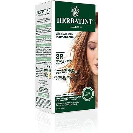 Herbatint Gel permanente para el color del cabello 8R / rubio claro, 150 ml