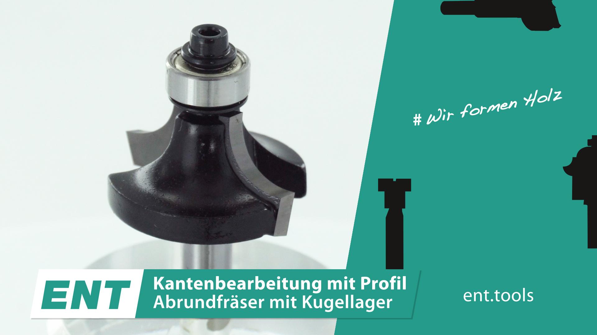HW Abrundfräser Set mit Kugellager 4-6 R2-3 8-10 mm ENT 09001 6-tlg