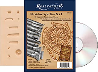 Realeather Sheridan Stamp Tool Set I, Chrome Plated