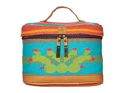STS Ranchwear Cactus Serape Train Case (Pink/Turquoise/Green) Bags