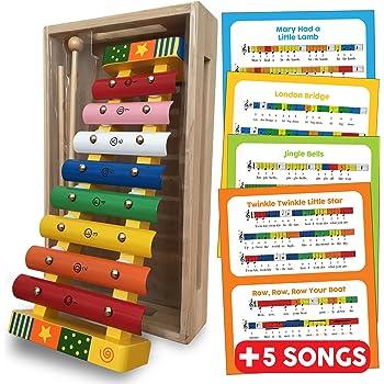 MVPower Xilofono Colorato di Legno Giocattoli Musicali per