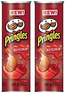 Pringles Potato Chips, Ketchup, 156 Grams/5.50oz (2 Pack)