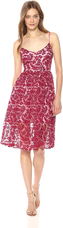 BB Dakota Womens Candler Two Tone Velvet Lace Midi Dress Dress