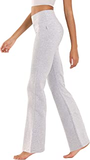 "BUBBLELIME 20""/29""/31""/33""/35"" 4 Styles Women High Waist Bootcut Yoga Pants Basic/Back Pocket/Straight Leg Soft Workout Flare"