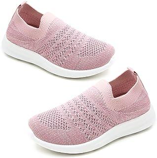 کفش های کتانی بچه گانه Apawwa برای کودکان کفش سبک صورتی/آبی/آبی/مشکی/کفش های پیاده روی مشکی تنیس تنفس برای کودکان نوپا/بچه های کوچک/بچه های بزرگ