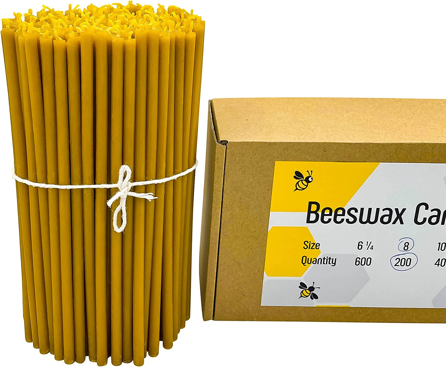 2021 autumn and winter new 100% Pure Beeswax Taper Candles Scent Honey - Décor Natural Dealing full price reduction