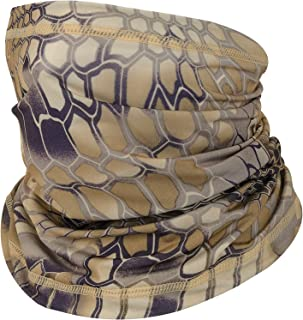 SUNDEARMA Neck Gaiter Face Mask Breathable Bandana Balaclava Face Cover Magic Scarf Headband (Camo-Snake Brown)