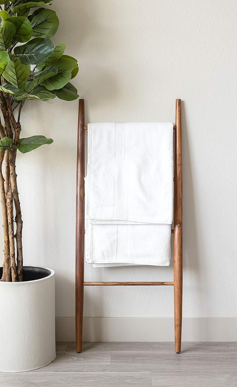 6 pi/èces blanc 2 serviettes de toilette et 2 serviettes de toilette Canopy Lane Lot de 6 draps de bain 100 /% coton super absorbant luxueux et de qualit/é h/ôteli/ère et spa 2 serviettes de bain
