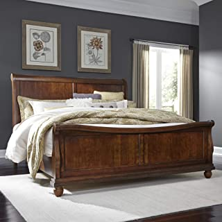 Liberty Furniture Industries Rustic Traditions Queen Sleigh Bed, Cherry