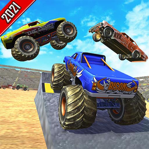 Demolition Monster Truck Derby Car Crash Stunt Destruction Simulator: Ultimate Death Racing Derby Car crashing & Smashing Fun Games 2021 - Real Whirlpool Grave Digger Derby Car Smash Shooting Giochi 3