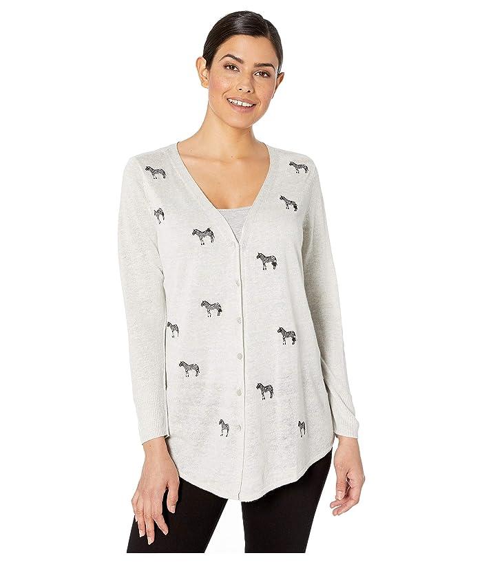 NIC+ZOE  Zebra Crossing Cardy (Taragon Heather) Womens Sweater