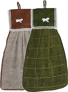 Kuber Industries 2 Piece 144 GSM Cotton Washbasin Napkin Towel Set - Multicolour