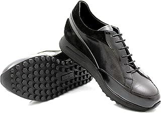 CANNERI Sneaker da Uomo - 9735 - Sneaker Basse Stringate - Scarpe da Ginnastica Basse - Scarpe Casual in Pelle con Design ...