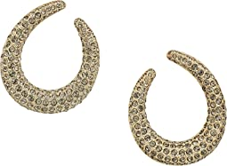 Nina - Front To Back Pave Hoop Swarovski Stones Earrings
