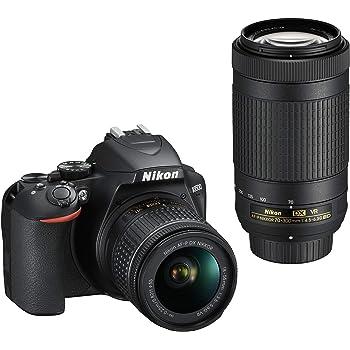 Nikon Kit Reflex numérique D3500 + AFP DX 1855 f/3.55.G VR + AFP DX 70300 f/4.56.3G Ed VR