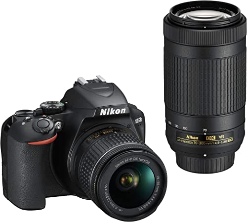 Nikon D3500 + AF-P 18-55 VR + AF-P 70-300 VR Twin Lens Kit, Black