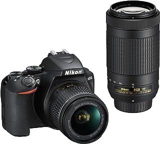 Nikon D3500 KIT + AF-P 18-55 VR + AF-P 70-300 VR Twin Lens Kit, Black