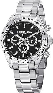 Stuhrling Original Men's 564.02 Raceway Date Silver
