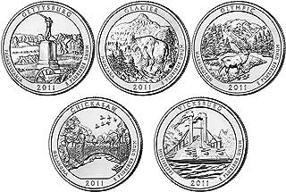 2011 P, D BU National Parks Quarters - 10 coin Set Uncirculated
