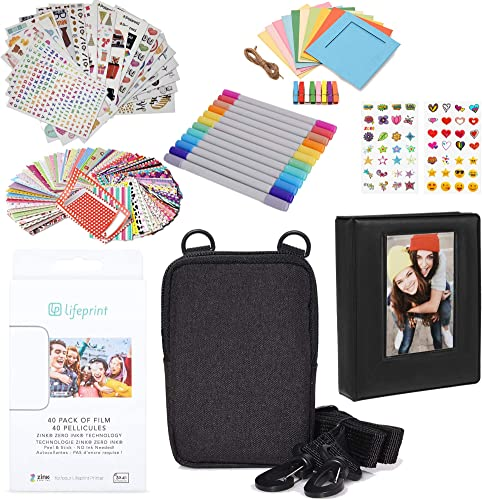 new arrival Lifeprint popular 3x4 Premium Zink Photo Paper (40 Pack) Accesory online sale Kit with Photo Album, Case, Stickers, Markers sale