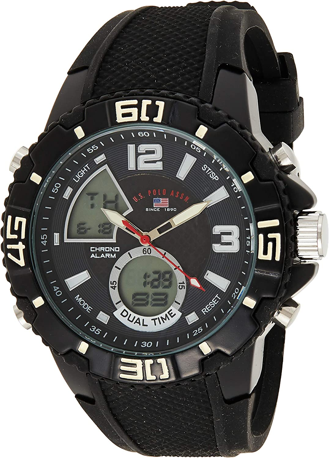 U.S. OFFicial store OFFicial Polo Assn. Sport Men's Analog-Digital US9479 Analog Display