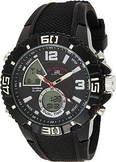 U.S. Polo Assn. Men's Quartz Watch, Analog-Digital Display and Silicone Strap US9479