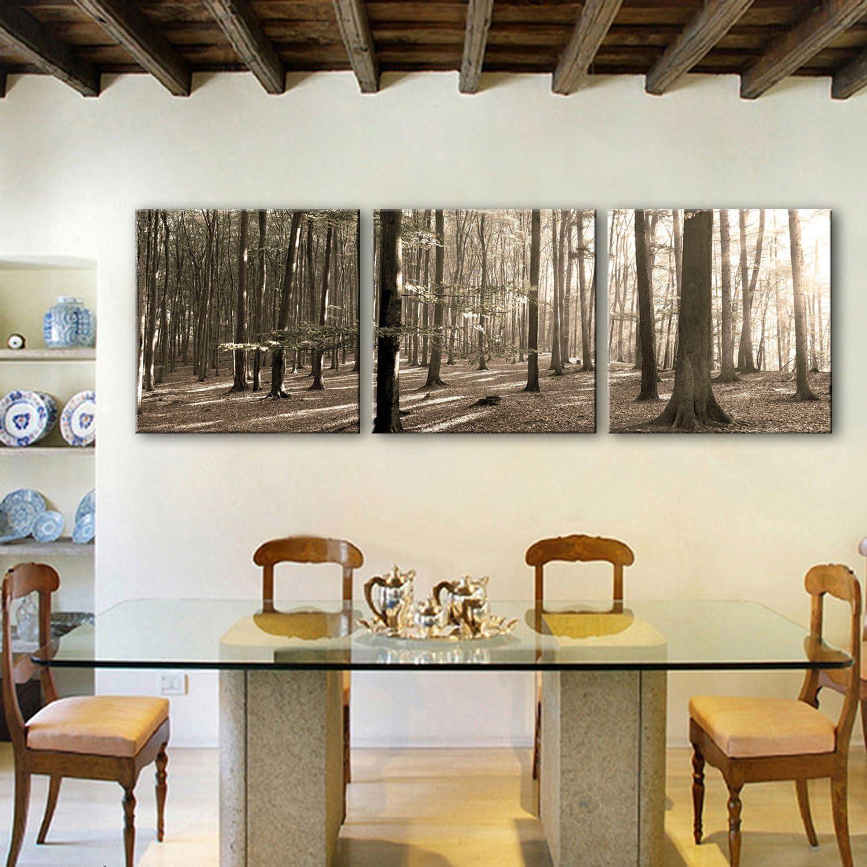 T&Q T&Qing Dekorative Malerei durchscheinend Wald. Frameless Malerei Wohnzimmer Studie dekorative Malerei, 50  50  3 B07KN31Y3C  | Schön In Der Farbe
