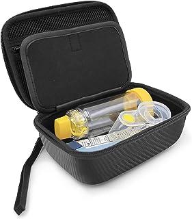 CASEMATIX Funda para inhalador de asma y bolsa de medicina para niños, funda protectora para asma, funda de transporte par...