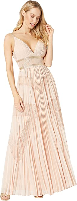 Long Woven Evening Dress
