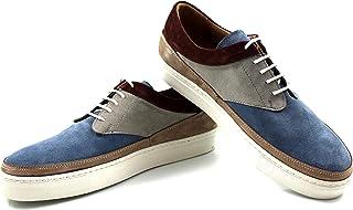 CANNERI Sneaker da Uomo - 9723 - Sneaker Basse Stringate - Scarpe da Ginnastica Basse - Scarpe Casuale in Pelle con Design...