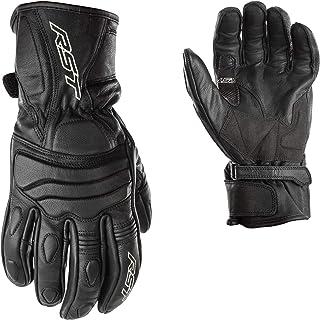 RST 2105 Jet City CE Approved Leather Motorcycle Bike Gloves - Black L