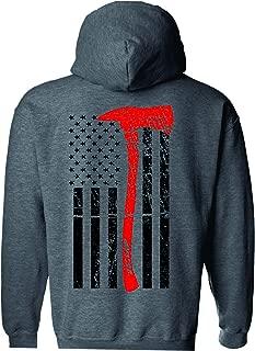 Axe Flag Thin Red Line Hooded Sweatshirt