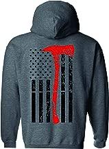 Patriot Apparel Axe Flag Thin Red Line Hooded Sweatshirt
