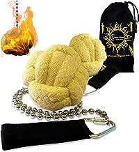 Pro Fire Poi Fist set 'Lion Paw' + Travel Bag by Flames 'N Games (Lion Paw)