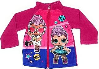 Tuta Sportiva Felpata Jogging Ginnastisca Cordinato Felpa con Zip Full Print e Pantalone Bambina Characters Cartoons LOL Surprise