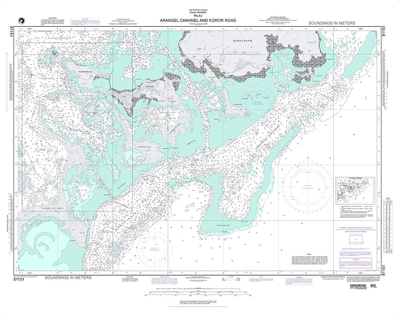 NGA Chart 81151 Arangel Channel and Kgoldr Road 42  x 33  Laminated Map