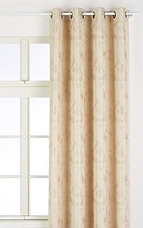 Heimtexland Lot de 2 rideaux jacquard avec tournesol Blanc ou color/és