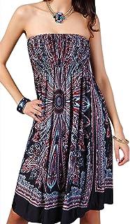 ABINGOO Donna Vestito Casuale Tinta Unita Estate Senza Maniche con Tasche da Spiaggia Abiti Sciolto Maglietta Boho Dress