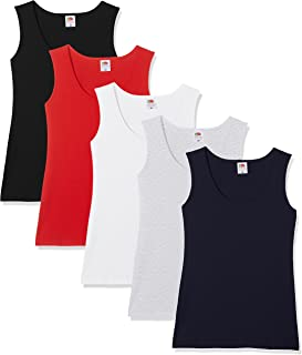 FRUIT OF THE LOOM Women's Valueweight Athletic Vests (Pack fo 5)