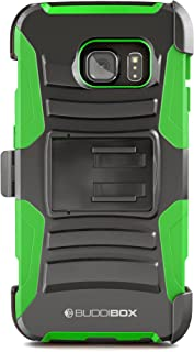 BUDDIBOX Galaxy S6 Edge Case, [HSeries] Heavy Duty Swivel Belt Clip Holster with Kickstand Maximal Protection Case for Samsung Galaxy S6 Edge, (Green)