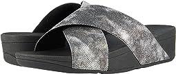 Lulu Cross Slide Shimmer Print Sandal