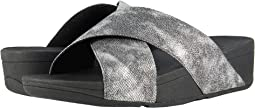 FitFlop - Lulu Cross Slide Shimmer Print Sandal