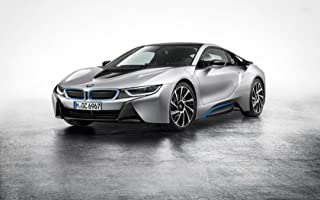 BMW I8 Hybrid Supercar Birthday Edible Image Photo 1/4 Quarter Sheet Cake Topper Personalized Custom Customized Birthday Party