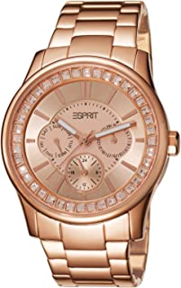 Woman Starlite - Reloj analógico de Cuarzo con Correa de Acero Inoxidable para Mujer