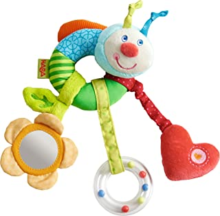 HABA Clutching Figure Rainbow Worm - Machine Washable Plush Ring with Dangling Elements for 6 Months