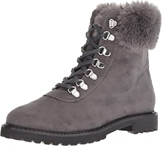Women's Trail Bootie Lace Up with Faux Fur Ankle Boot